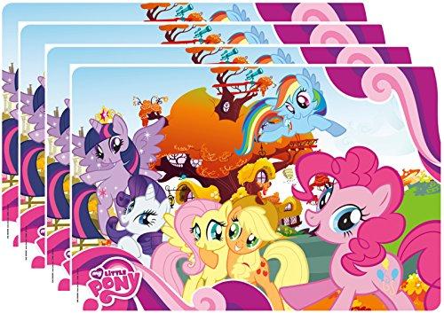Zak Designs My My Little Pony Kid's Placemat, Set of 4, Twilight, Fluttershy, Rainbow Dash & Friends (Design Dash A Rainbow Pony)
