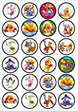 Winnie The Pooh Edible PREMIUM THICKNESS SWEETENED VANILLA,Wafer Rice Paper Cupcake Toppers/Decorations