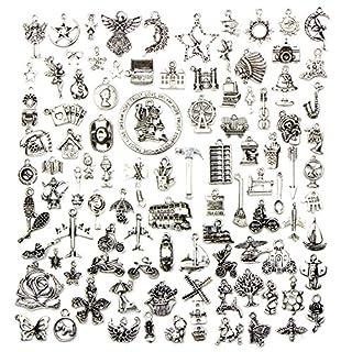 Qinlee Steampunk Anhänger DIY Handwerk Vintage Schmuck Basteln Teile Material Armbänder Ohrringe Zubehör Zufällige Stil
