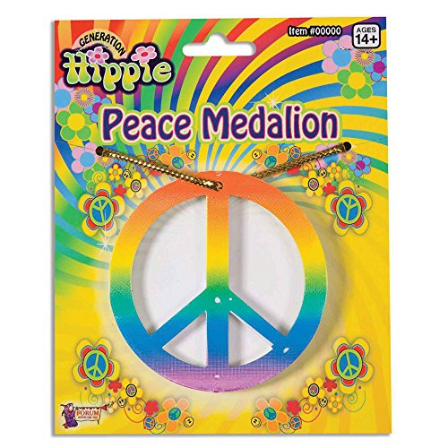 Bristol Novelty ba548 Rainbow Peace Medaillon, One size