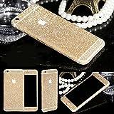 Fashionfort - Skin adesivo integrale con motivo glitter luccicante per iPhone 4, 4s, 5, 5s, 5c, 6, 6s, 6 Plus, Champagne, iPhone 6/6s