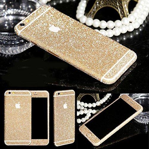 Fashionfort-integrale in vinile, decalcomania, Cover adesiva per iPhone 4, 4s, 5, 5s, 5c, 6, 6 Plus/6s, argento, iPhone 6/6s champagne