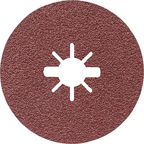 Bosch Professional Expert - Discos de lija de fibra (para metales, X-LOCK, R444, Ø125 mm, grano 60, diámetro del orificio: 22,23 mm)