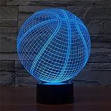 Basketball 3D bunte Lichter LED Lampe Acryl Vision Stereoskopische 3D Touch Lampe Nacht Licht bunte Steigung Lampe
