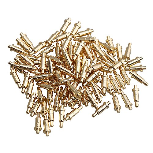 Yibuy Vergoldet Spring Loaded Test Probe Fingerhut Pogo Pin, 0.6CM/0.24Inch(Length)