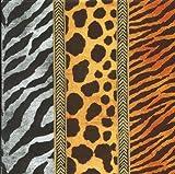 Ihr Servietten 20–African Animal Zebra Leopard Giraffe Animal Print gold