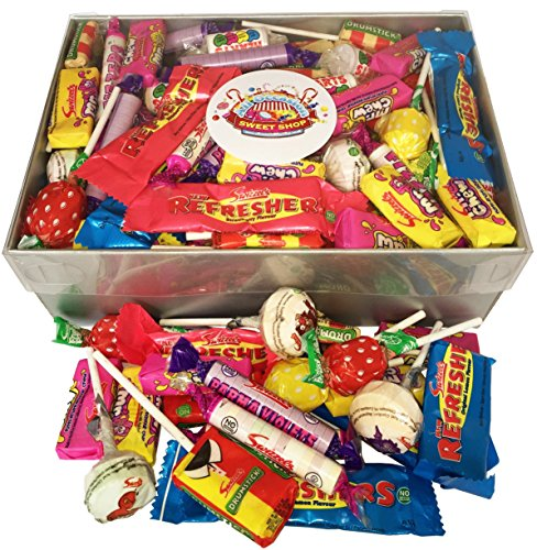 WRAPPED Retro Sweets Selection Gift Box! Clear Lid Box Brimming with (OVER 1.1KG) your Favourite Wrapped Old-Fashioned Sweets!