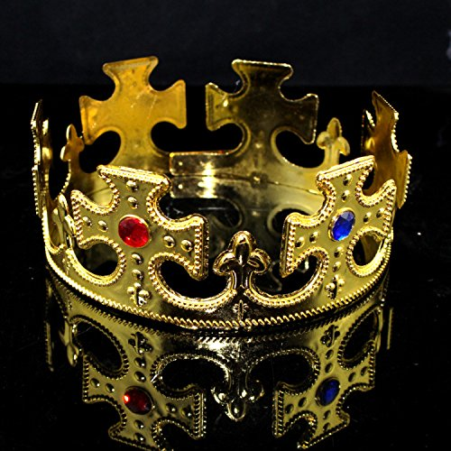 Jeweled Prince King oder Queen Krone (Gold) (Office-themen-halloween)