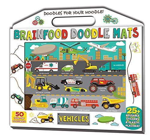 Brainfood Doodle Mats: Vehicles by Laura Dower (2015-05-05)