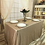 """trlyc 152,4x 259,1cm Rectangle élégant vives Chiffon Table à paillettes scintillant Tissu Table couleurs sont disponibles, Autre, champagne, 60""""*102"""" sequin tablecloth"""