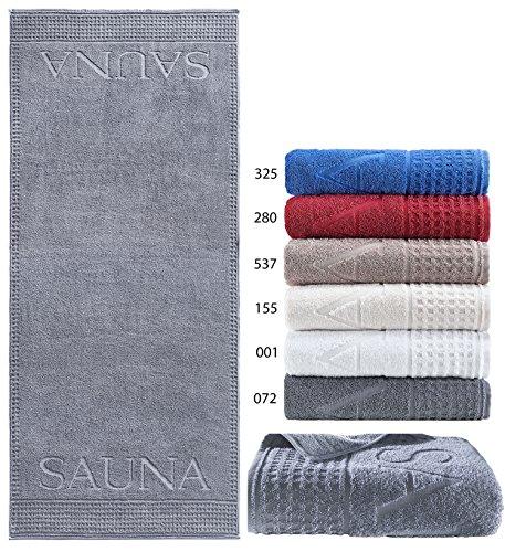 Saunatuch in Luxusqualität aus Zwirnfrottee, 75x200 cm Farbe 072 anthrazit