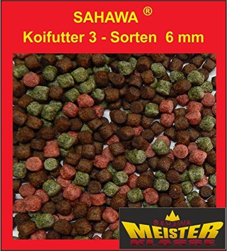 Koifutter 6 mm 3 Sorten Spezialmix 15 Kg