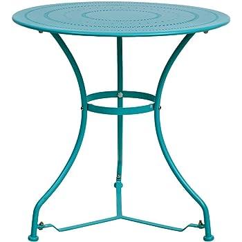 Amazon De Butlers Century Tisch O 70 Cm Weisser Gartentisch Aus