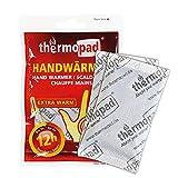 Thermopad Handwärmer | kuschlig weiches Wärmekissen | 12 Stunden wohltuende Wärme von 55°C |  angenehme Taschenwärmer | 10er Pack -