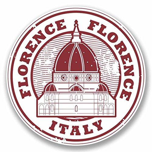 2x Florenz Italien Vinyl Aufkleber Aufkleber Laptop Auto Reise Gepäck Label Tag # 9788 - 10cm/100mm Wide -