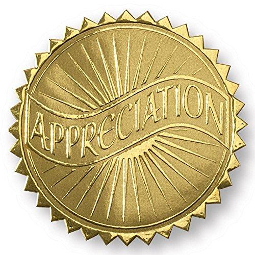 wertsteigerung Banner geprägt gold Folie Zertifikat Dichtungen, 5,1cm, selbstklebend, 102Zählen (Gold-folie-zertifikat Dichtungen)