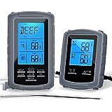 Thermomètre de Cuisine, 5 Modes Thermomètre de Cuisson Digital Numérique sans Fil pour BBQ avec Minuterie 2 Sondes Lecture In