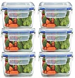 #7: JN-Store Set of 6pcs Plastic Air Tight Square Storage Box Container Cereal Dispenser Jar 400ml Idle for Kitchen- Food Rice Pasta Pulses Container Box