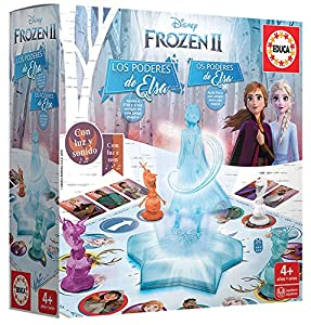 Educa-Borrás- Frozen 2 Los Poderes De Elsa Juego de Mesa, Multicolor (18239)