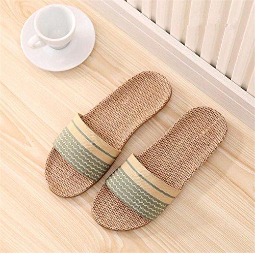 Pantofole in cotone e biancheria pacchi domestici in lana bianca e interna al termine della protezione ambientale pantofole antisdrucciolevoli in gomma 2pcs B