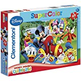 Clementoni 26573.2 Puzzle Mickey Mouse Club House On Track for Fun