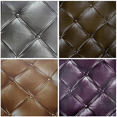 XMQC*Il lusso in finta pelle 3D Wallpaper per parete soggiorno carta da parati Rivestimenti murali di sfondo
