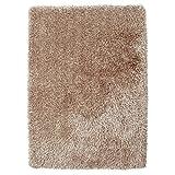 HomeLinenStore Designer-Super-weiche handgemachte Shaggy Teppich, beige, 150 x 230 Cm