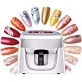 3D Digital Nail Art Printer New Portable Nail Printer Multifunction Nail Painting Machine Suitable for Image Design Center, A