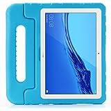 ZiHang Funda Infantil Huawei Mediapad M5 Lite 10.1, Carcasa Niño Antigolpes con Asa Convertible Tapa de Soporte, Funda Bebé L