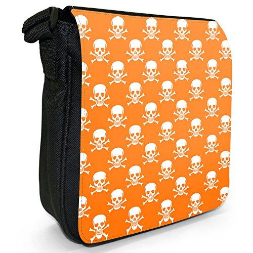 Fancy A Snuggle, Borsa a tracolla donna Totenkopf & gekreuzte Knochen Orange
