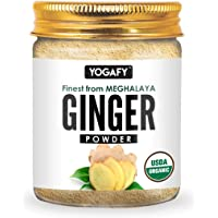 YOGAFY - Organic Ginger Powder (250 Gram) - Pure 100% Natural Adrak Powder | Fights Cold & Flu - Used in Cooking…