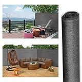 ProBache - Brise vue renforcé 1,5 x 10 m gris 220 gr/m² luxe pro