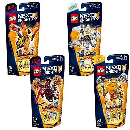 Preisvergleich Produktbild Lego NEXO Knights 4er Set 70336 70337 70338 70339 Ultimativer Axl + Ultimativer Lance + Ultimativer General Magmar + Ultimativer Flama (inkl. App für das Smartphone)