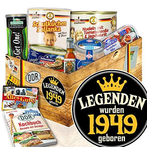 Legenden 1949 / Ostalgie Box / Geschenke 70. Geburtstag Frau / Ostpaket