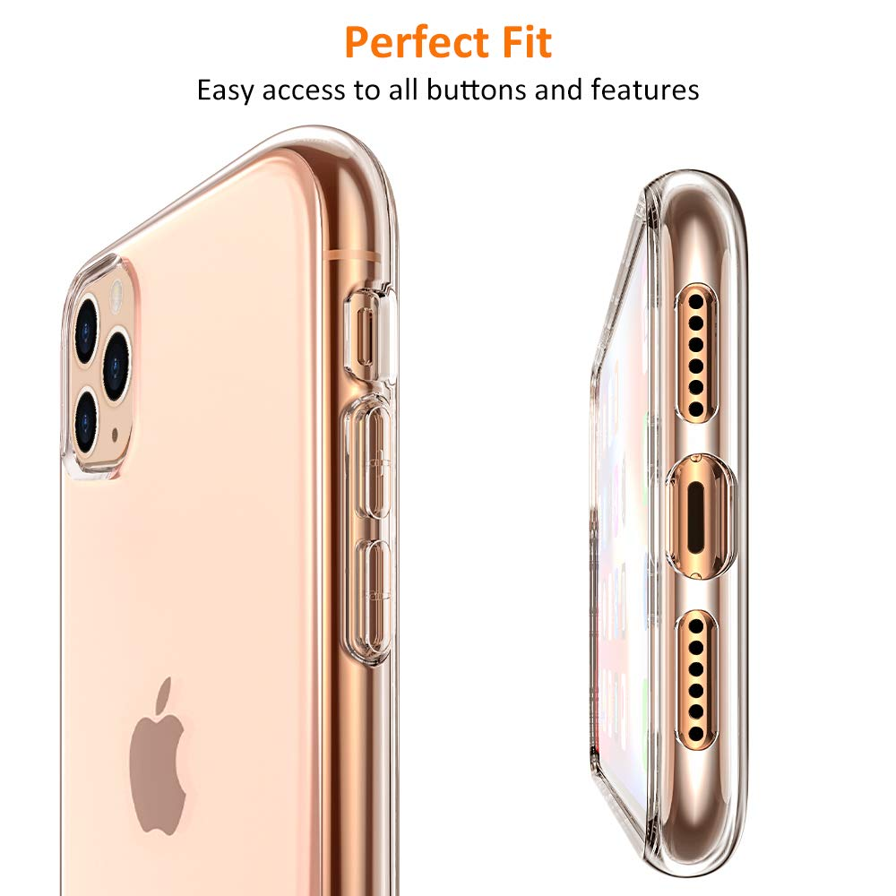 Funda de silicona transparente para iPhone 11 2019 en iPhone 11