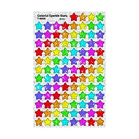 Trend SuperSpots Stickers - Pack of 400 Colorful Sparkle Stars