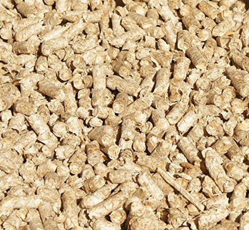 Jumbogras® Kleintier-Einstreu-Pellets Miscanthus/Elefantengras für Hasen+Kaninchen+Maus+Vogel+Meerschweinchen, statt Stroh- u. Sägespänen für Käfig & Stall (10 kg)