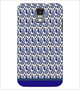 PrintDhaba Butterfly Pattern D-1609 Back Case Cover for SAMSUNG GALAXY S5 (Multi-Coloured)