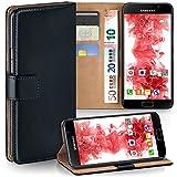 MoEx Samsung Galaxy A3 (2016) | Hülle Schwarz mit Karten-Fach [OneFlow 360° Book Klapp-Hülle] Handytasche Kunst-Leder Handyhülle für Samsung Galaxy A3 2016 Case Flip Cover Schutzhülle Tasche