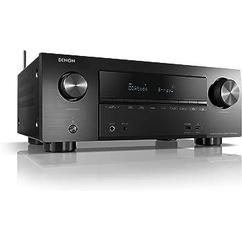 Denon AVRX2500H 7.2 Surround AV-Receiver (Alexa kompartibel, Phono, Dolby Vision Kompatibilität, Dolby Atmos, dtsX, WLAN, Bluetooth, Amazon Music, Spotify Connect, HDMI Eingänge, 7X 150 W) Schwarz
