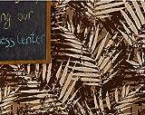ZQHXW Papel Pintado no Tejido de Hojas del sudeste asiático Estilo Europeo, Flocado, imitación de Gamuza, Hojas de Papel Tapiz, Dormitorio, Sala de Estar, Fondo de Pantalla, Papel Tapiz, Fondo de Pan