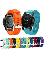 Tabcover for Garmin Fenix 5s Watch Armband,Soft Silicone Sport Replacement Strap Armband for Garmin Fenix 5s Smart Watch