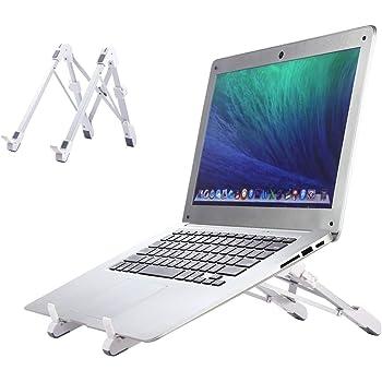 GUSODOR Supporto per PC Portatile Angolazione Regolabile Supporto Computer Pieghevole e Laptop Stand Design Ergonomico e Stabile per Computer Portatile MacBook PRO MacBook Air Unibody iPad Notebook