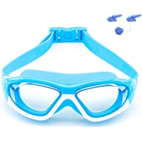 Big Frame Wide-Vision Swim Goggles for Children Girls Boys(Age 6-15 years old), Premium Polarized Kids Swimming Goggles…