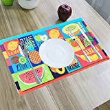 Kuber Industries™ Designer Dining Table Placemats Set of 6 Pcs With Tea Coasters (Reversible Can be Used In Both Sides) Color & Print Might Be Vary As Per Availability (Place048)