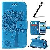 Galaxy S3 Hülle,Galaxy S3 Neo Hülle,Galaxy S3 / S3 Neo Ledertasche Brieftasche im BookStyle