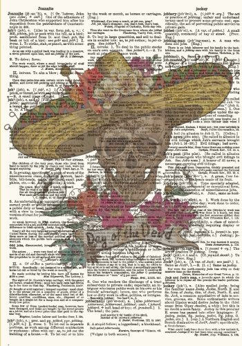 Day of the Dead Vintage Dictionary Artwork Notebook: Dia De Los Muertos Notebook/Journal (7 x 10 Inch - Ruled) (Art Poster American Latin)