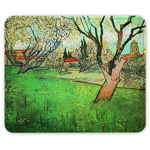van-gogh-view-of-arles-with-flowering-tree-designer-leather-mouse-pad-with-colourful-design-strong-a