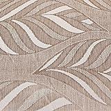 Geometrische Leaf Vorhänge–Bleistiftfalten Webstoff gefüttert Vorhang Paar + Raffhalter Parent, Polyester, Naturfarben (Beige / cremefarben), Vorhänge (1 Paar): 117 x 183 cm (modern)