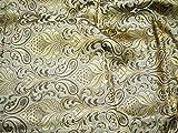 Schwerer Banarsi Seidenbrokat-Stoff in zwei Farbtönen für